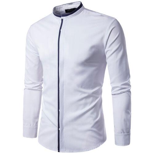 NEW Men/'s Stylish Casual Dress Shirt Long Sleeve Formal Tops Slim Fit T-Shirts