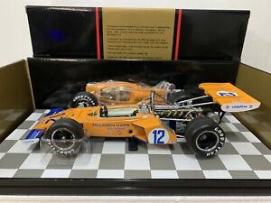 Replicarz 1972 Indianapolis 500 Peter Revson #12 Gulf McLAREN 1/18 Scale New Box