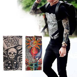2 pcs seamless prison break fake temporary tattoo sleeve arm stocking oversleeve 615688003924 ebay. Black Bedroom Furniture Sets. Home Design Ideas