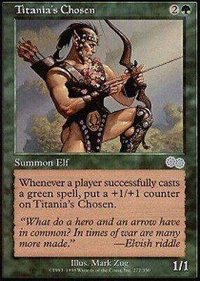 4 PLAYED Titania/'s Chosen Green Urza/'s Saga Mtg Magic Uncommon 4x x4