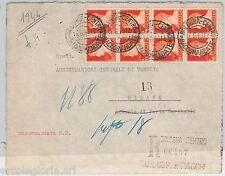 55591 - STORIA POSTALE:  francobolli REGNO usati su busta in periodo REPUBBLICA