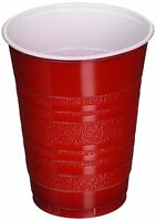 252 Disposable Red Plastic Cups 18 Oz Birthday Wedding Party Glasses Drinking