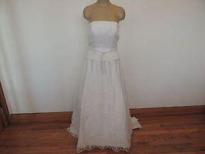 David-039-s-Bridal-Michaelangelo-size-4-bust-34-034-white-strapless-wedding-dress