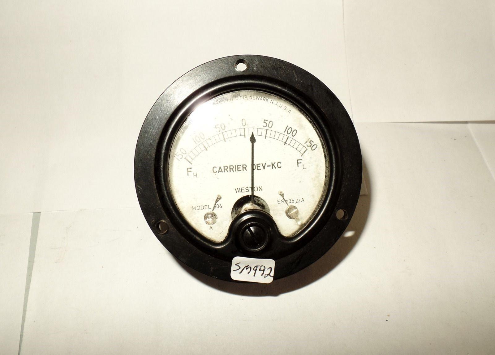 Weston Kc rossoondo Pannello Misuratore Metro Frequenza -150 150 Fh Fl