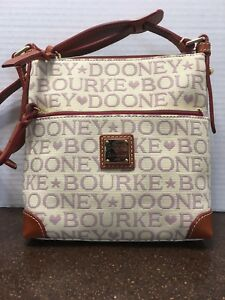 1aa125c1b5 Image is loading Dooney-amp-Bourke-Handbag-Purse-Tapestry-Canvas-Lavender-