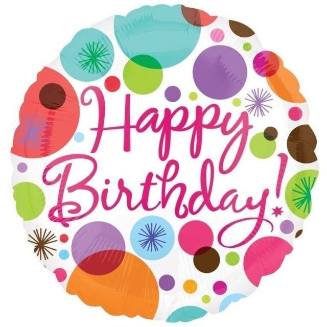 Gepunktet Happy Birthday Luftballon 45cm Feier Partydekorationen