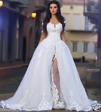Two Piece Beach Wedding Dress Bridal Gown Plus Size 2-4-6-8-10-12-14-16+ Custom