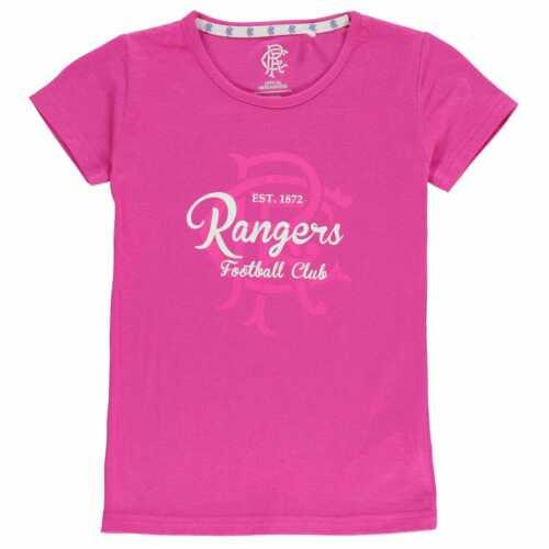 Team Bambine Rangers Cresta stampa t shirt junior Girocollo Tee Top Capped