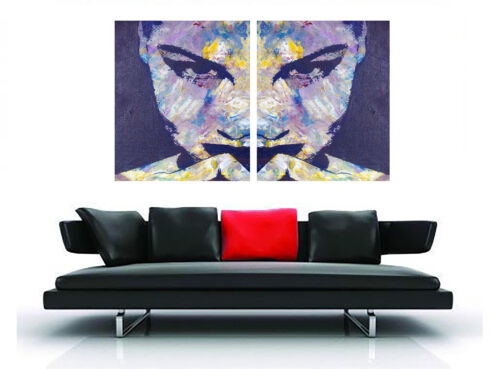 2x art painting  print pop abstract woman large  face 70cm by 50cm