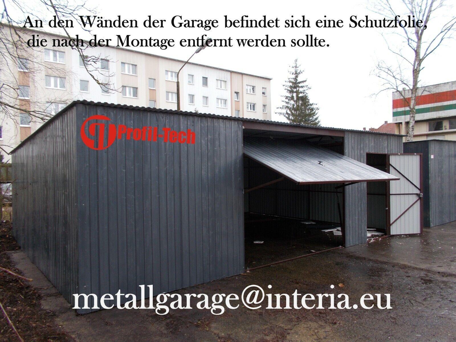 9x4 Blechgarage Fertiggarage Metallgarage RAUM KFZ REIFEN LAGER GARAGE