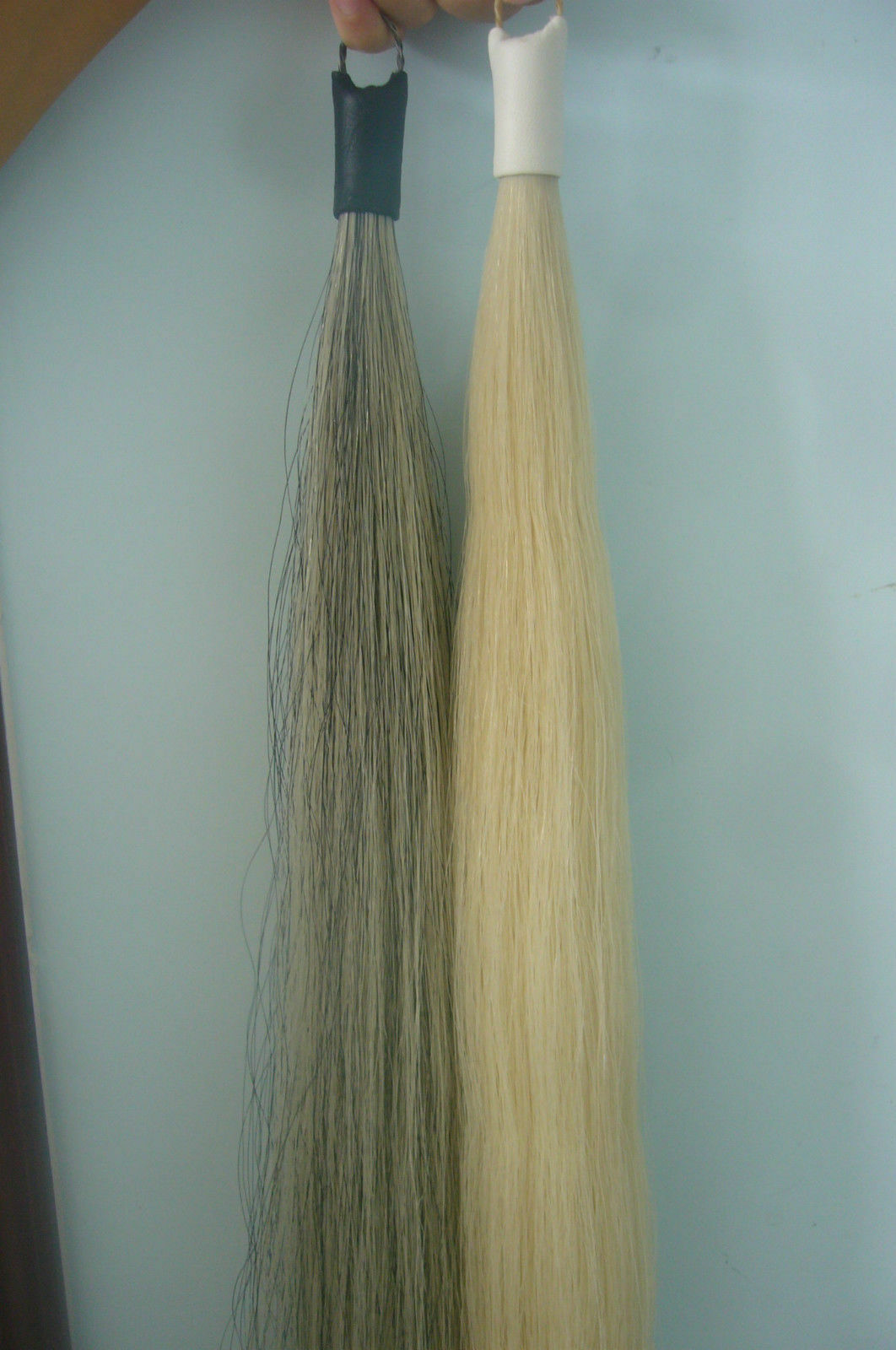 Light Grey and White Horse Tail Hair Extension 70-76cm 170grams