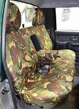 Mitsubishi L200 1998-2006 Camo Camouflage Tailored Rear Bench Seat Cover UK Made