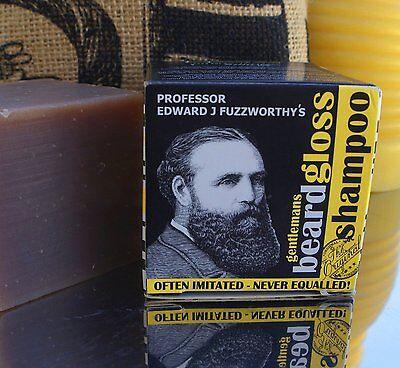 Fuzzworrthy Mens Beard Moustache Shampoo Conditioner Cleanser Wash Care Soap Bar