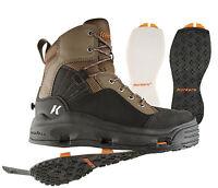 Korkers Buckskin Wading Boots W/felt And Kling-on Rubber Soles - Size 9
