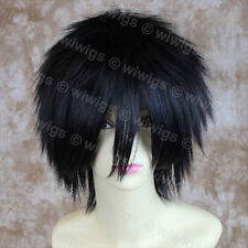 Wiwigs Striking Jet Black Short Spiky Style Cosplay Unisex Wig