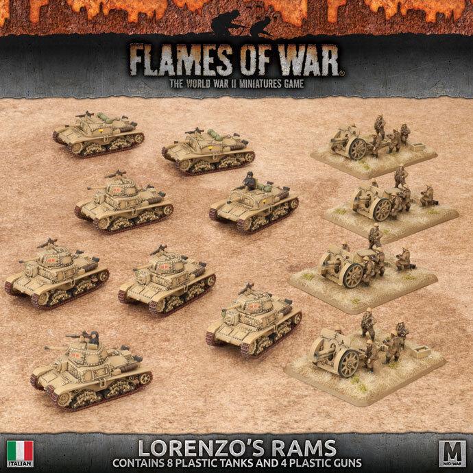 Flames of War -  Italian  Lorenzo's Rams Italian Army ITAB02  consegna veloce e spedizione gratuita per tutti gli ordini