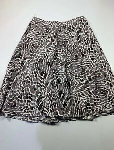BNWT WOMENS MARKS&SPENCER SIZE UK 14 BROWN&BEIGE CASUAL SUMMER A LINE SKIRT