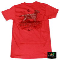 Drake Waterfowl Southern Collection Lab And Cattails S/s T-shirt Red Large