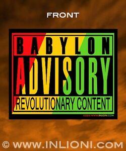RASTA-STICKER-Reggae-Babylon-Advisory-Waterproof-Super-durable