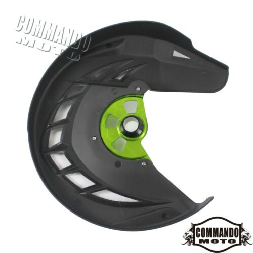 Aluminum /& ABS Plastic Front Brake Disc Guard Cover For Kawasaki KLX450R 2008-09
