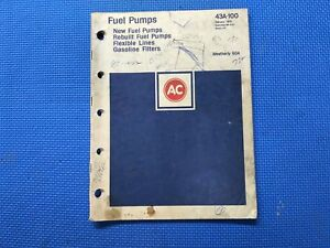 60 - 1975 AC United Delco Fuel Pump Parts Catalog ...