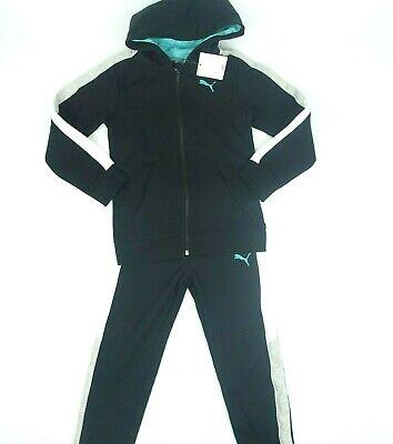 Puma boy/'s 2 piece Set Zip up Track Suit sz 6 Olive//Orange New