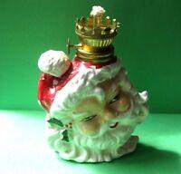 Victoria Ceramics Vintage Santa Oil Lamp