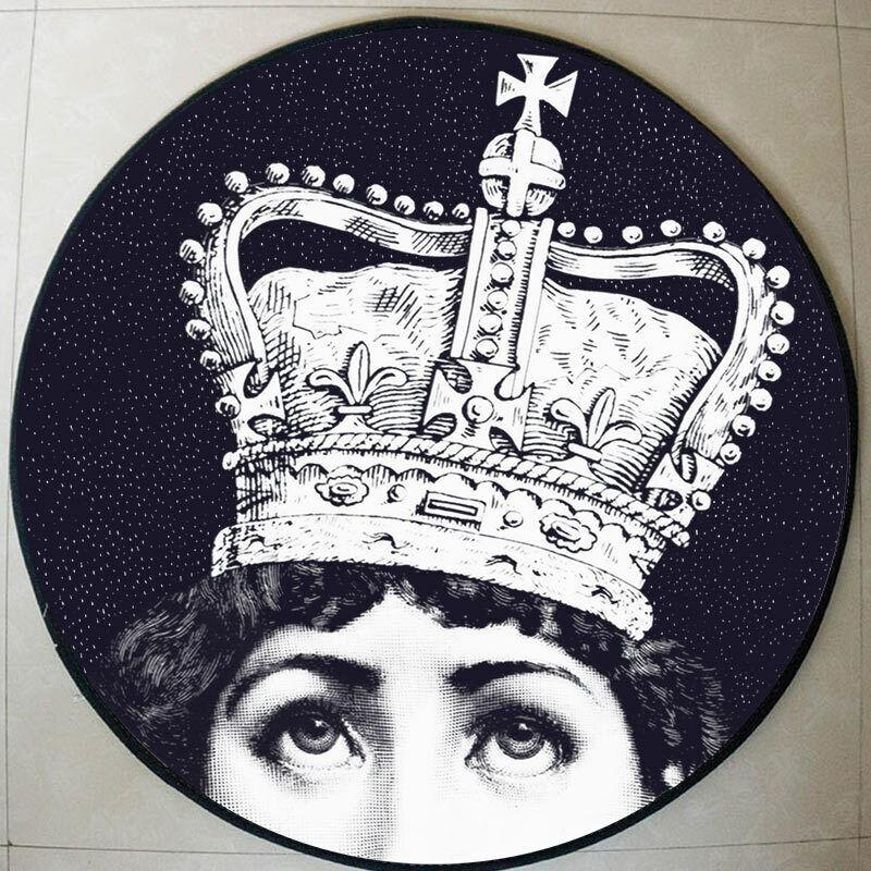 Luxury Tondo Circolare Tappeto Tappeto Tappetino. Royal Crown TEMA