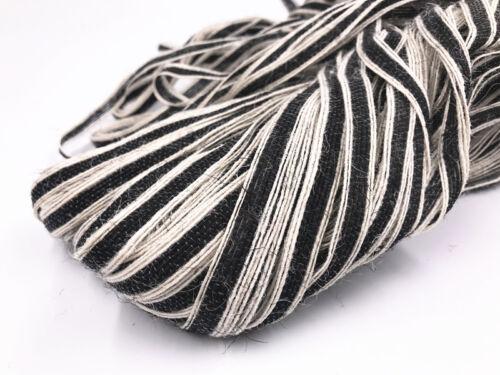 5//100m Natural Hessian Rope Burlap Ribbon 10mm Craft Vintage Wedding Party Decor