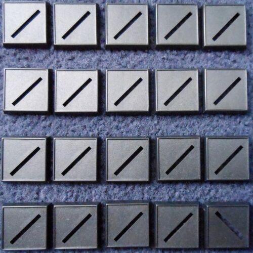 REAPER BONES 74015 25 mm SQUARE Gaming bases x20 Lèvres Noir Base en plastique uni