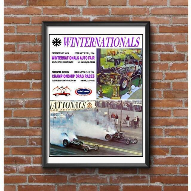 1964 Winternationals Custom Car Show & Drag Race Poster - ICCA NHRA Events
