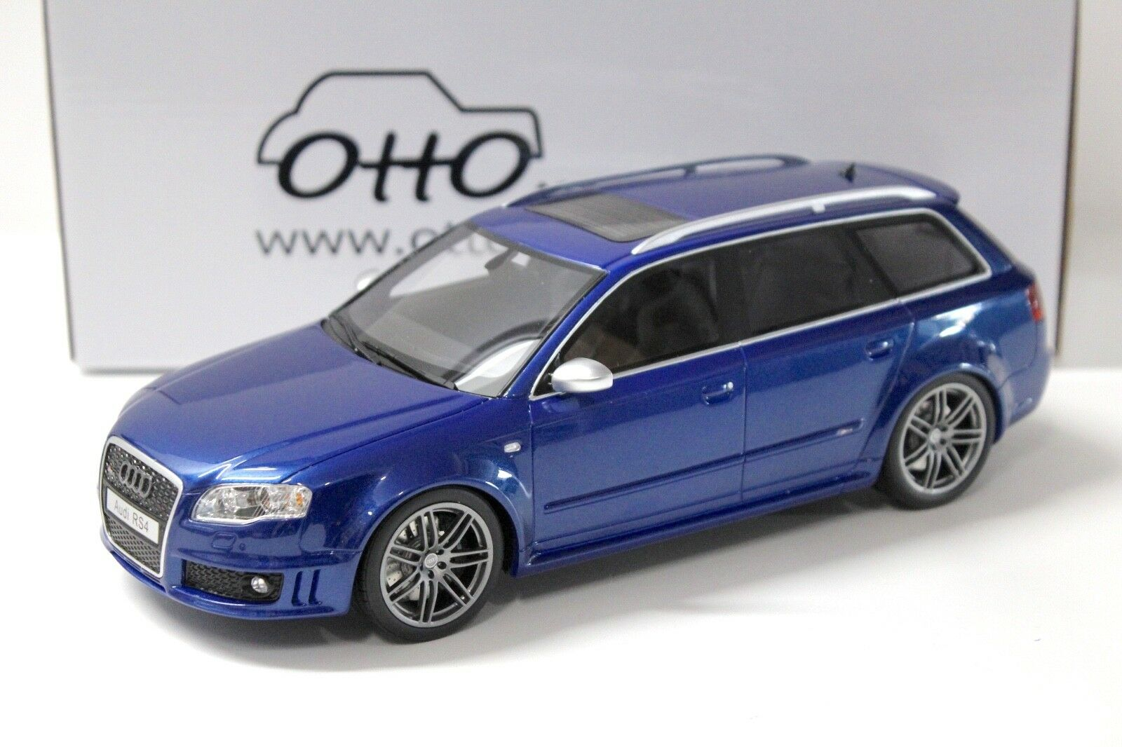 1 18 Otto audi rs4 avant b7 blu New en Premium-modelcars