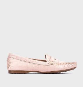 Blakeseys HOGAN Mens Leather Croc Effect Formal Smart Dress Tassel Loafers Tan