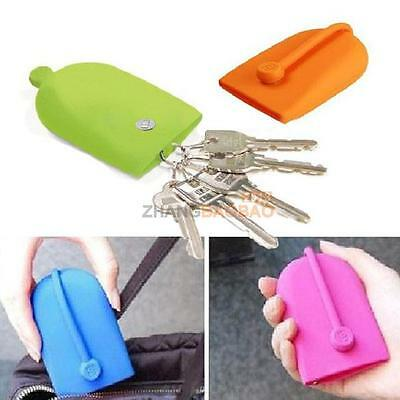 Keychain Hasp Style Silicone Pouch Card Bag Case Gift Key Holder Magnet Snap New