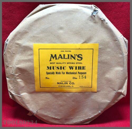 "Malin/'s Spring Steel Music Wire One Pound Roll! .154/"" Diameter"