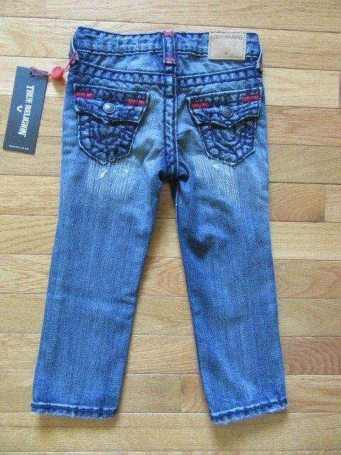 04fadd65f True Religion Kids Geno Super T Jeans Tarnished Wash Adj. Waist 3t ...