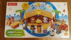 Details About Fisher Price Little People A Christmas Story Nativity Set Complete In Box Musica