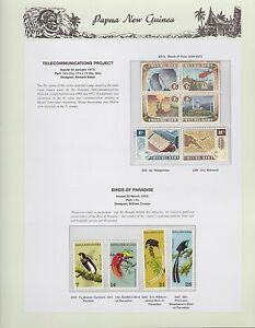 1973-PNG-PAPUA-NEW-GUINEA-Telecommunications-Birds-Paradise-STAMP-SET-K-430