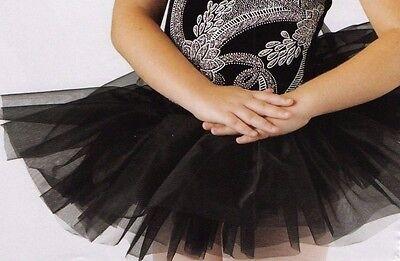 """NWT GRADUATED White short 5 tier Panty TUTU Ballet top skirt 15/"""" adlt  glittered"""