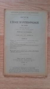 Compendio Mensile - Rivista Di SCUOLA Antropologia Di Parigi - 1901 - N° 12