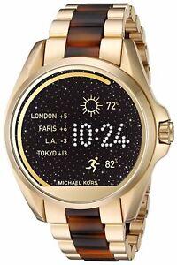 7621e7ea48bf Image is loading Michael-Kors-Access-Unisex-Gold-Tone-amp-Tortoiseshell-