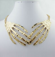 new arrival Fashion 18K gold-plated Halloween skull Hands pendant bib necklace