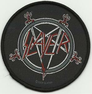 SLAYER-swords-logo-2009-circular-WOVEN-SEW-ON-PATCH-official-merchandise