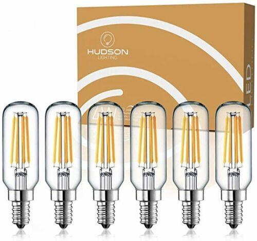 3000K Soft White E12-6 Pack Hudson Lighting T6 Candelabra Bulbs Dimmable