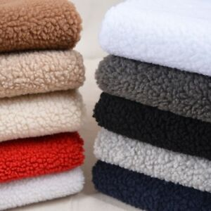 5f5576dde26c7 Image is loading Sherpa-Fleece-Lining-Fabric-Lambskin-Thermal-Lined-Material -
