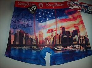 Crazy-Boxer-Underwear-Mens-Boxer-Briefs-1-Pr-New-York-NY-Graphic-S-M-L-XL-NWT