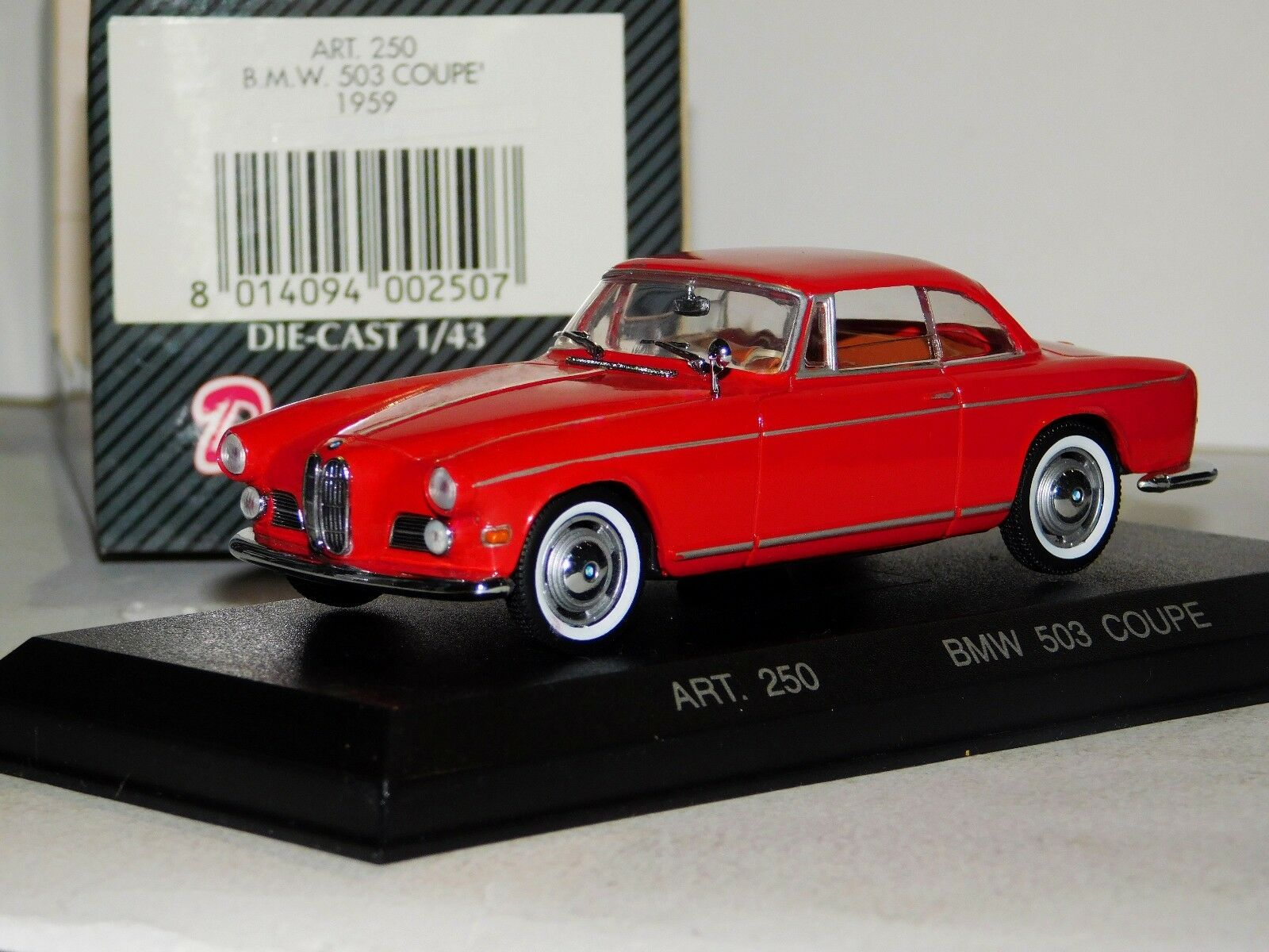 BMW 503 503 503 COUPE 1959 COUPE RED DETAIL CARS ART 250 1 43 51afa9