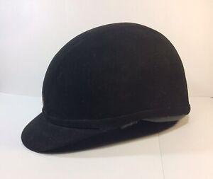 Charles-Owen-Wellington-Professional-Black-Riding-Helmet-Cap-Size-7-57-Read