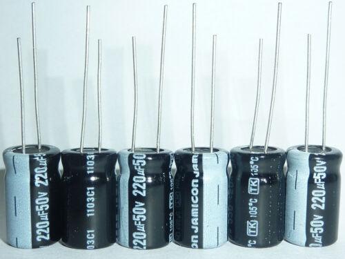 10pcs 220uF 50V JAMICON TK 50V220UF High Reliability capacitor  8x16mm