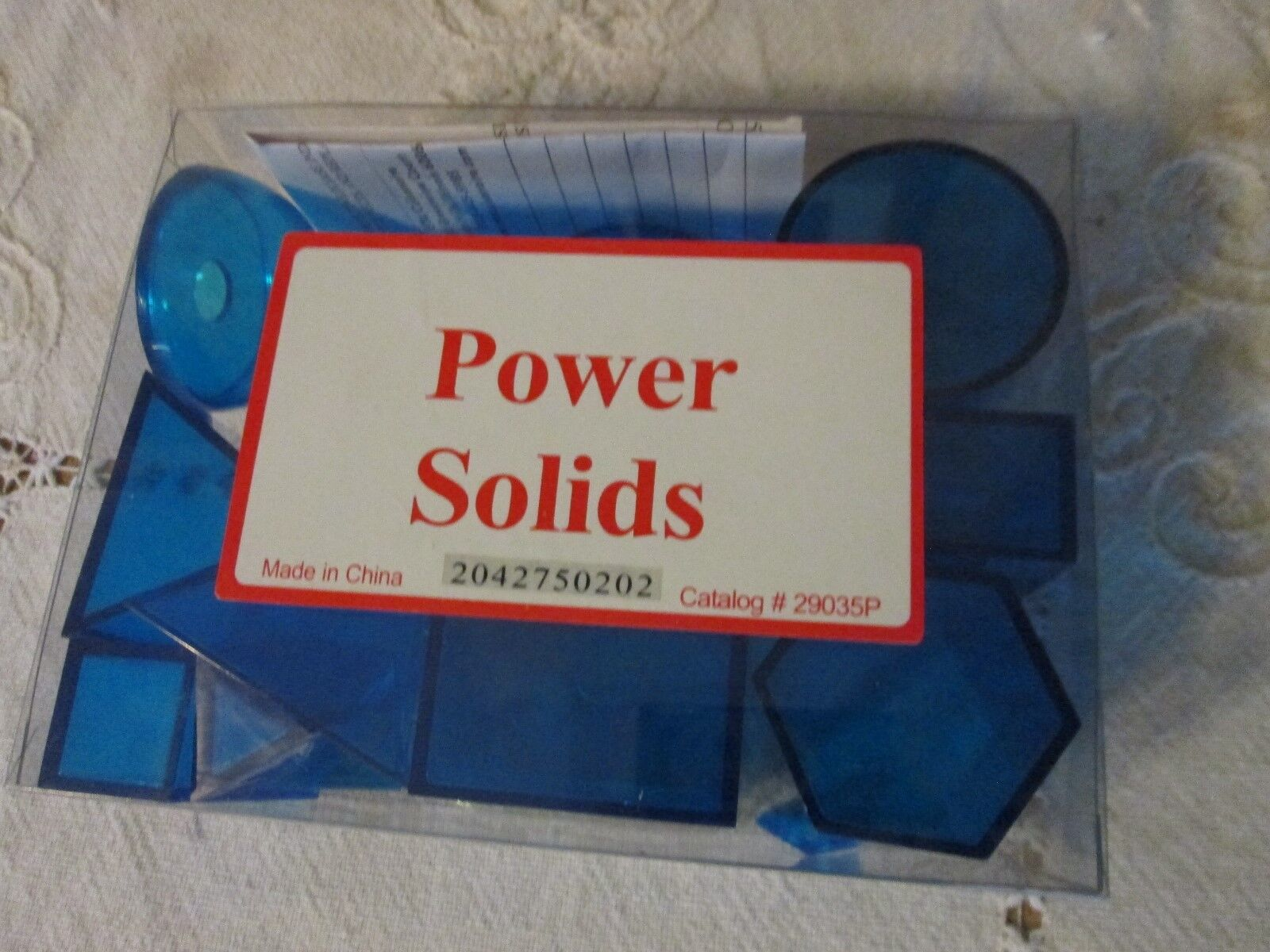 New bluee Plastic Geometric Solids Power Solids Student Math to fill